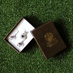 Yardenit Crystal Broach and Earrings Set